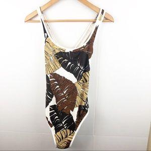 Venus brown leaf side cutout 1 piece swimsuit 12